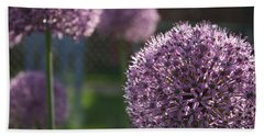 Bath Towel featuring the photograph Allium by Mary-Lee Sanders