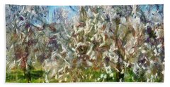 Almond Orchard Blossom Hand Towel