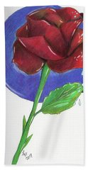 Almost Black Rose Hand Towel