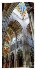 Almudena Cathedral Interior In Madrid Hand Towel
