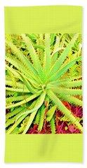 Aloha Aloe In Puna In Lime Hand Towel