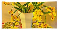 Aloha Bouquet Of The Day - Yellow Wild Flowers Hand Towel