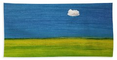 Bath Towel featuring the painting Alone And Fine by Judith Rhue