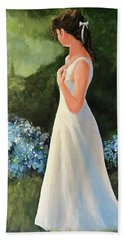 Alone In The Garden Hand Towel