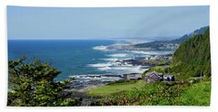 Along The Coastline On A Perfect Day Bath Towel