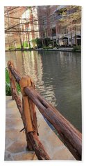 Along The Fence Bath Towel by Angela Murdock