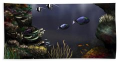 Along The Reef Bath Towel by Ron Grafe