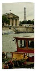 Along The Seine Hand Towel