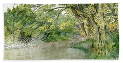 Bath Towel featuring the painting Along The Susquehanna by Melly Terpening