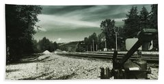 Along The Tracks Bath Towel by K Simmons Luna