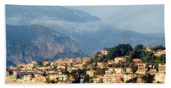 Along Villefranche Coast Hand Towel