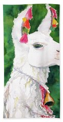 Alpaca With Attitude Hand Towel