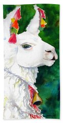 Alpaca With Attitude Bath Towel