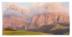 Alpe Di Suisi Sunset Panorama Hand Towel