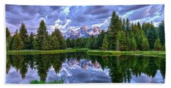 Alpenglow In The Tetons Hand Towel