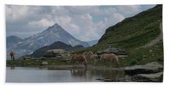 Alps' Horses Bath Towel