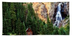 Alpine Cabin Bath Towel by Lana Trussell