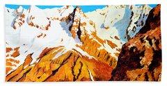 Alpine Landscape Bath Towel by Henryk Gorecki