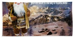 Alpine Santa Card 2015 Bath Towel