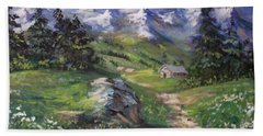 Alpine Splendor Hand Towel by Megan Walsh