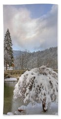Bath Towel featuring the photograph Alpine Winter Beauty by Ian Middleton