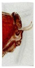 Altamira Prehistoric Bison Detail Bath Towel
