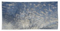 Hand Towel featuring the photograph Altocumulus Clouds  by Lyle Crump