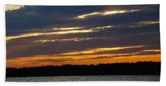 Alum Creek Sunset Bath Towel by Mike Murdock