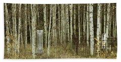 Alvarado Cemetery 42 Hand Towel by Marie Leslie