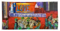 Bath Towel featuring the painting Grow Old With You by Belinda Low