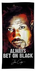 Always Bet On Black - Passenger 57 Bath Towel