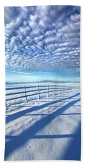 Bath Towel featuring the photograph Always Whiter On The Other Side Of The Fence by Phil Koch