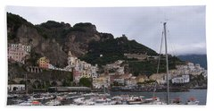 Hand Towel featuring the photograph Amalfi Coast by Judy Kirouac