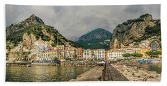 Hand Towel featuring the photograph Amalfi by Steven Sparks