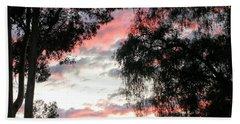 Amazing Clouds Black Trees Bath Towel