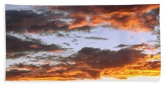 Glorious Clouds At Sunset Hand Towel