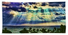 Amazing Grace - Sun Rays Before Sunset By Diana Sainz Bath Towel