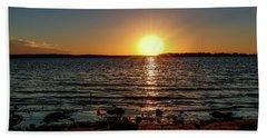 Amazing Sunset Bath Towel by Doug Long
