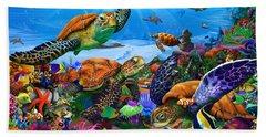 Amazing Undersea Turtles Hand Towel