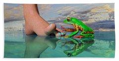 Amazon Tree Frog Curiosity Hand Towel