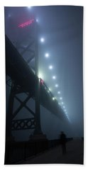 Ambassador Bridge In Fog Bath Towel