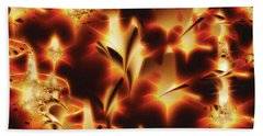 Hand Towel featuring the digital art Amber Dreams by Paula Ayers