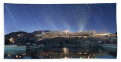 Bath Towel featuring the photograph Amber Fort After Sunset by Pradeep Raja Prints