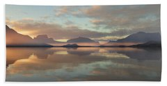 Hand Towel featuring the digital art Salmon Lake Sunrise by Mark Greenberg