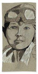 Amelia Earhart Hand Towel