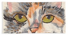 Hand Towel featuring the drawing Amelia by Terry Taylor