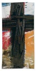 Amen Contemporary Cross- Art By Linda Woods Hand Towel