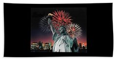 America The Beautiful  Bath Towel by Herb Strobino