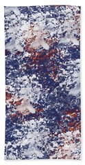 America Watercolor Bath Towel