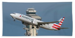 American Airlines Boeing 737-800 Taking Off From Lax  Bath Towel